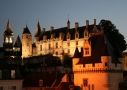 Le Logis royal de Loches illuminé