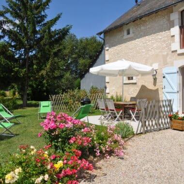 Villa Saule - La terrasse - Le clos de la Richaudière - Luxury Loire Gites